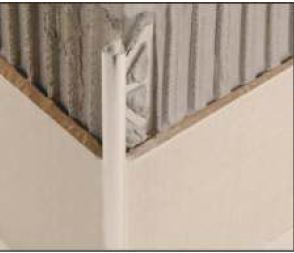 PVC завършващ профил с отвор 8мм - бял
